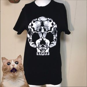 Loot Crate cat skull Tshirt Adult s